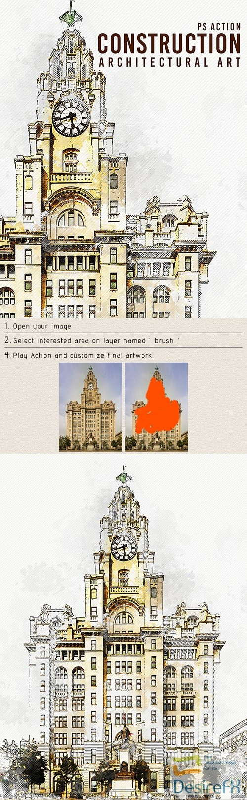 actions-atn - Construction - Architectural Art Photoshop Action 22620889