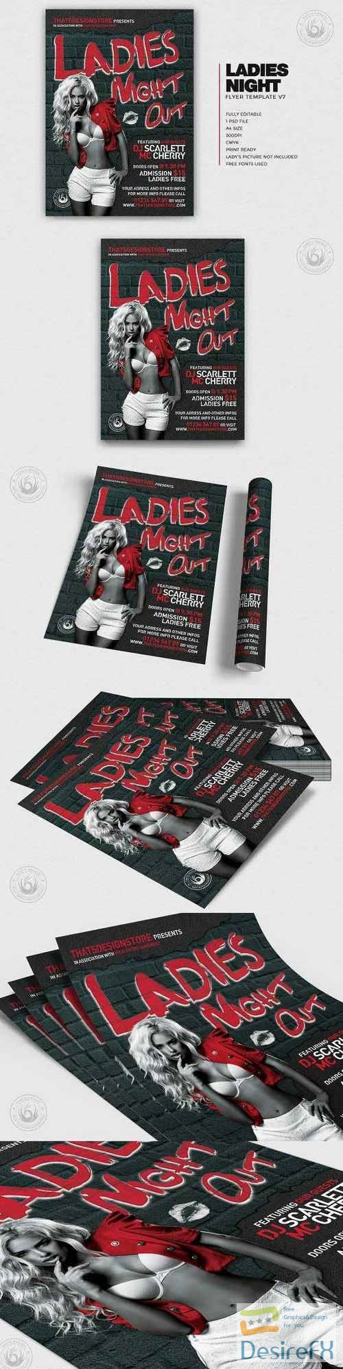 layered-psd - Ladies Night Flyer Template V7 342365