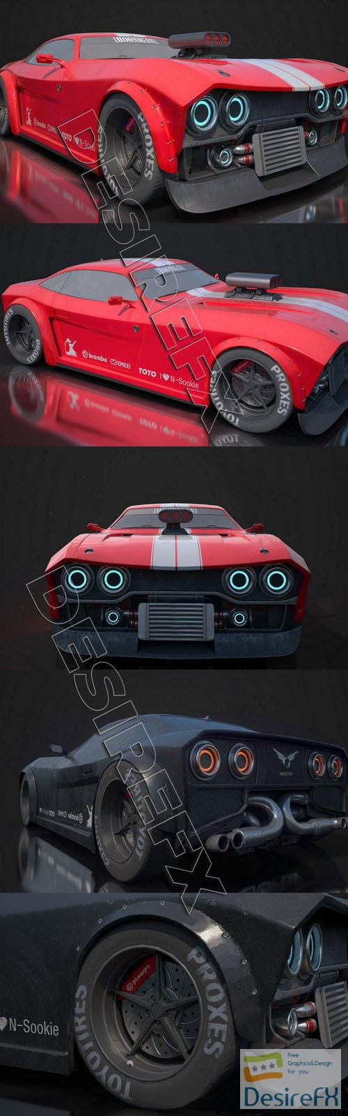 3d-models - CyberPunk 2077 CAR Concept 3D Model