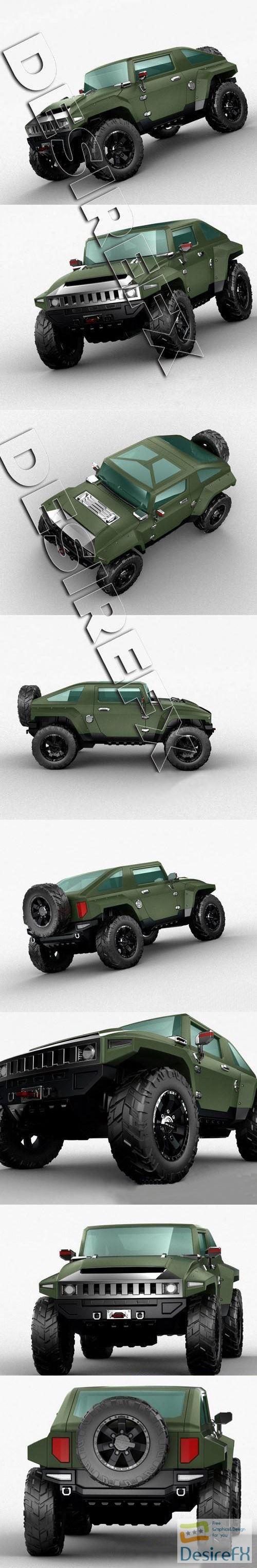 3d-models - Hummer HX 3D Model