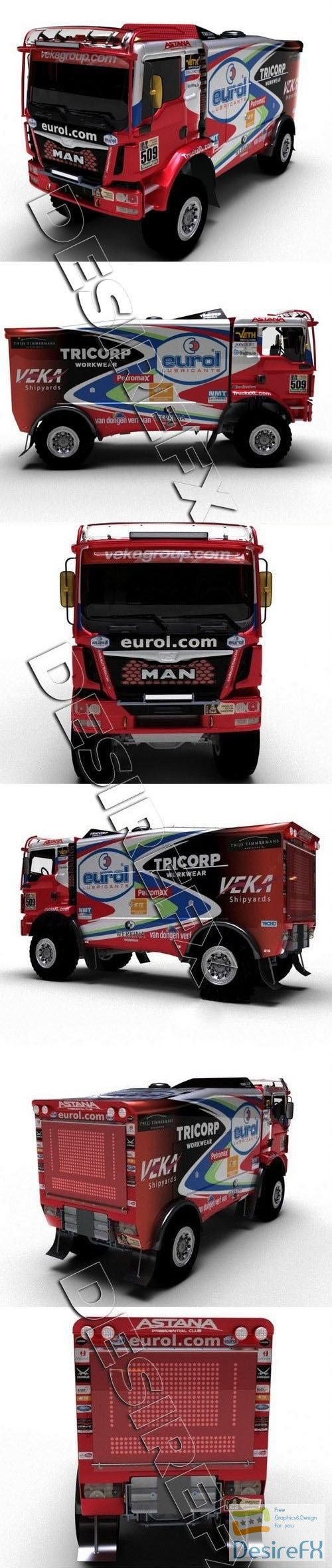 3d-models - MAN Dakar Truck 2018 3D Model