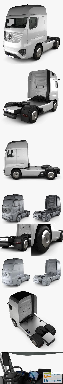 3d-models - Mercedes-Benz Future Truck with HQ interior 2025 3D Model