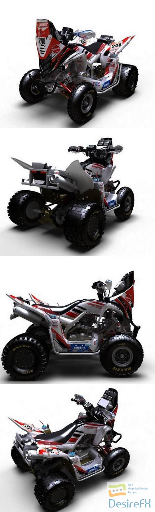 3d-models - Yamaha Raptor QUAD 3D Model