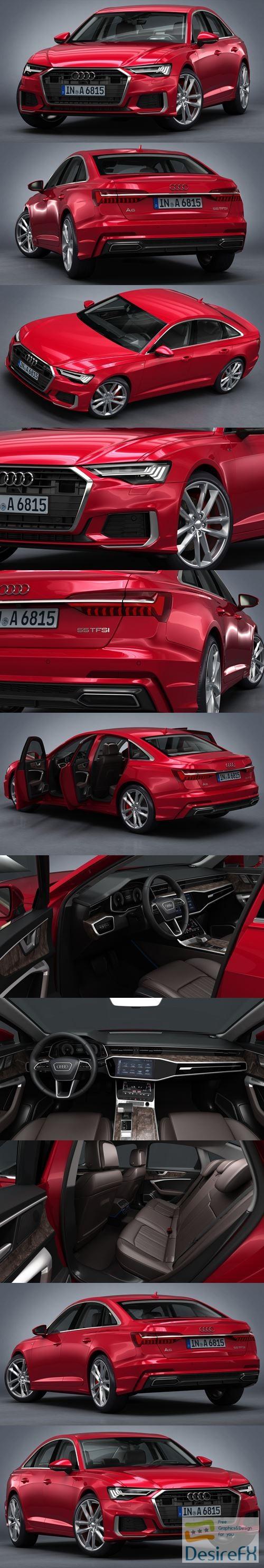 3d-models - Audi A6 2019 3D Model