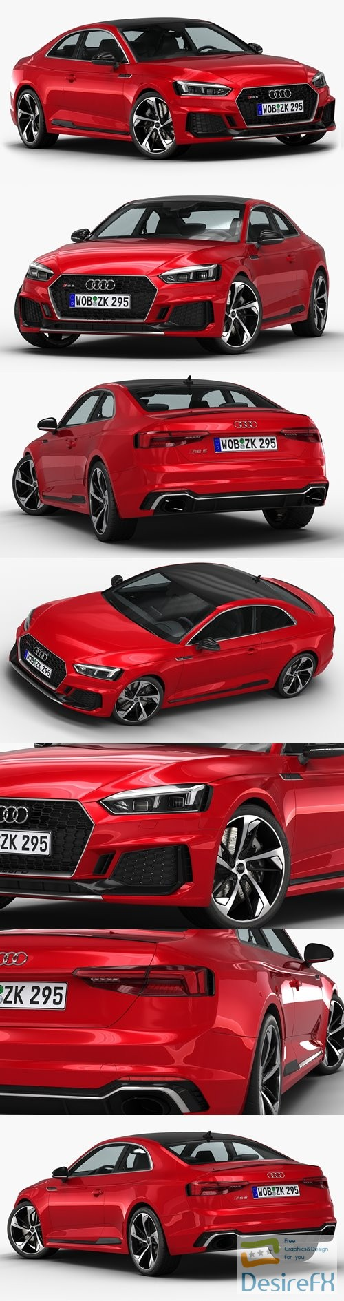 3d-models - Audi RS5 Coupe 2018 3D Model
