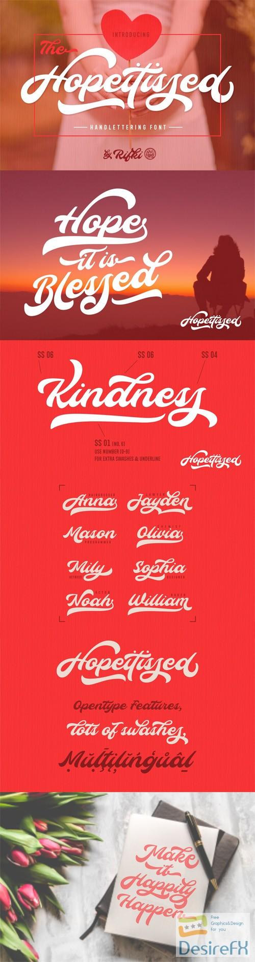 fonts - Hopeitissed Handlettering Font