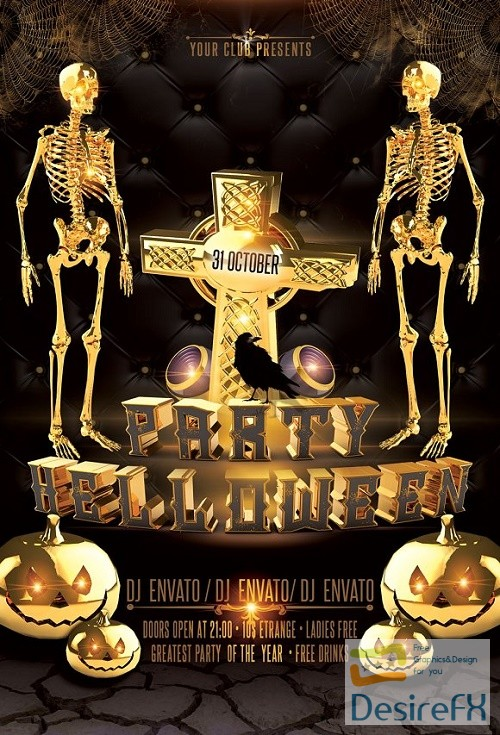 layered-psd - Halloween Party Flyer 3005294