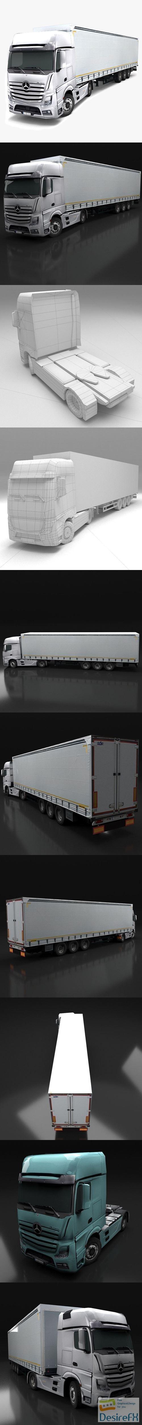 Mercedes Benz Actros 2015 3D Model