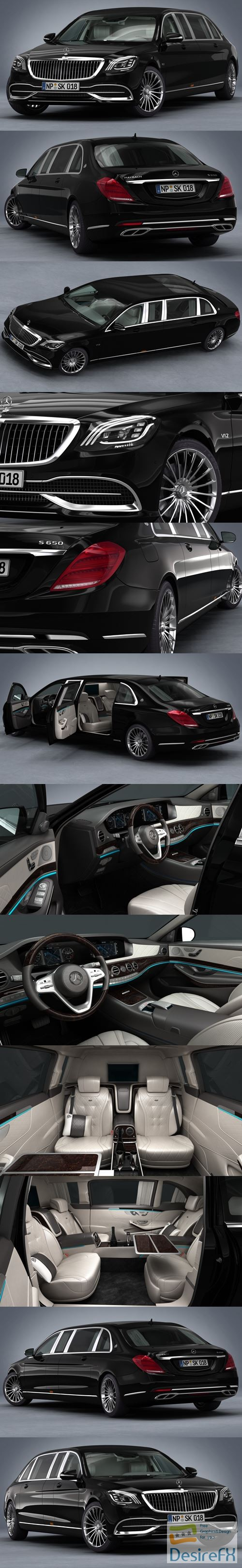3d-models - Mercedes-Benz S650 Pullman Maybach 2019 3D Model