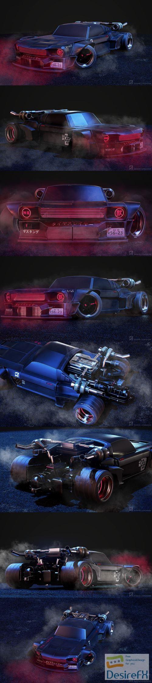 3d-models - Mustang 2067 3D Model