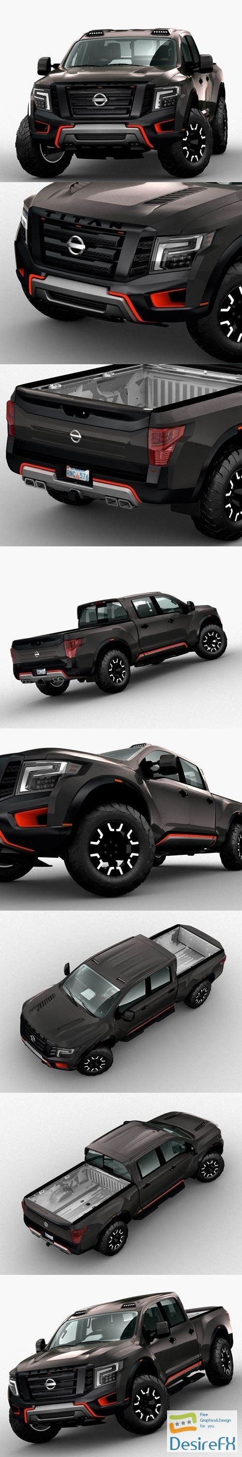 3d-models - Nissan Titan 2017 3D Model