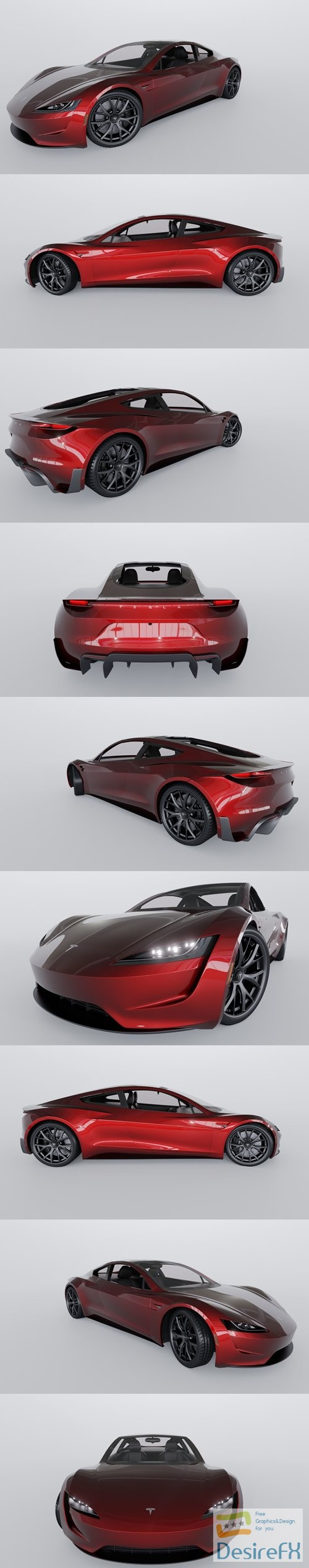 3d-models - Tesla Roadster 2020 3D Model
