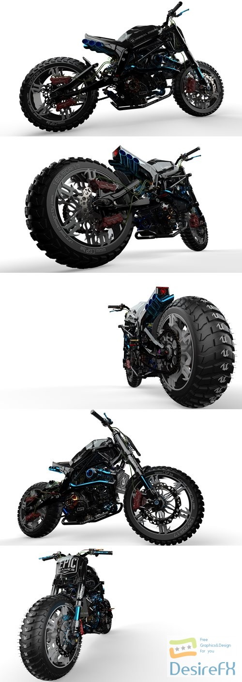 3d-models - Unreal Bike 3D Model