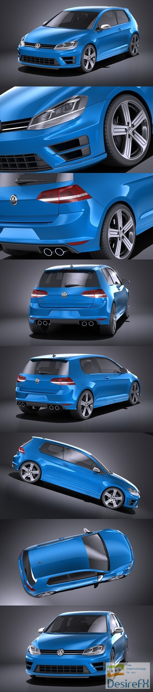 3d-models - Volkswagen Golf R 2014 3D Model
