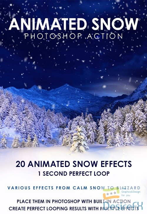 actions-atn - Animated Snow Photoshop Action - 19429039