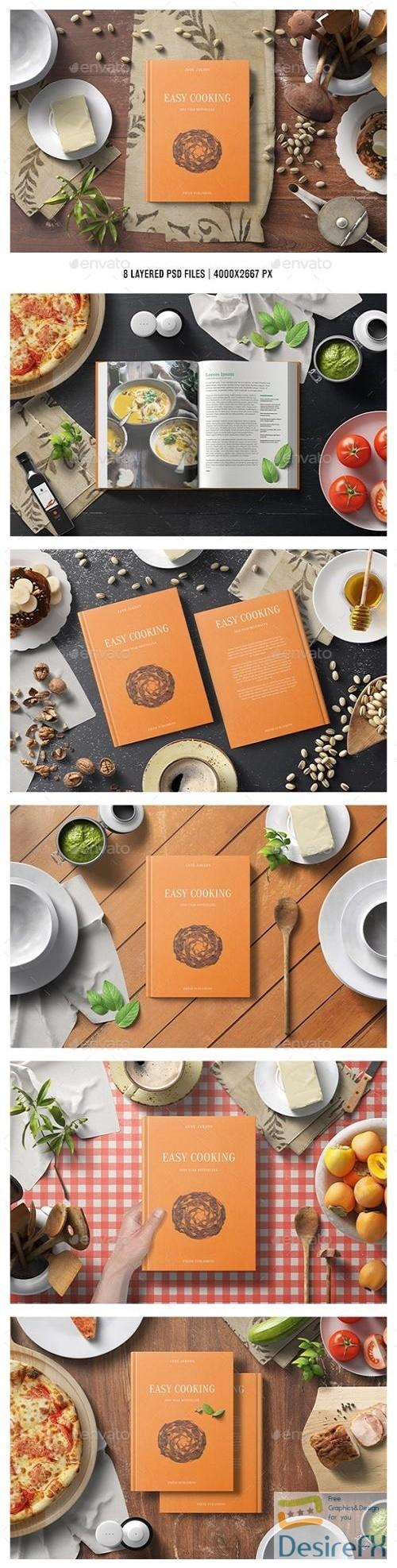 mock-up - Square Cook Book Mockup - Kitchen Set - 22645038