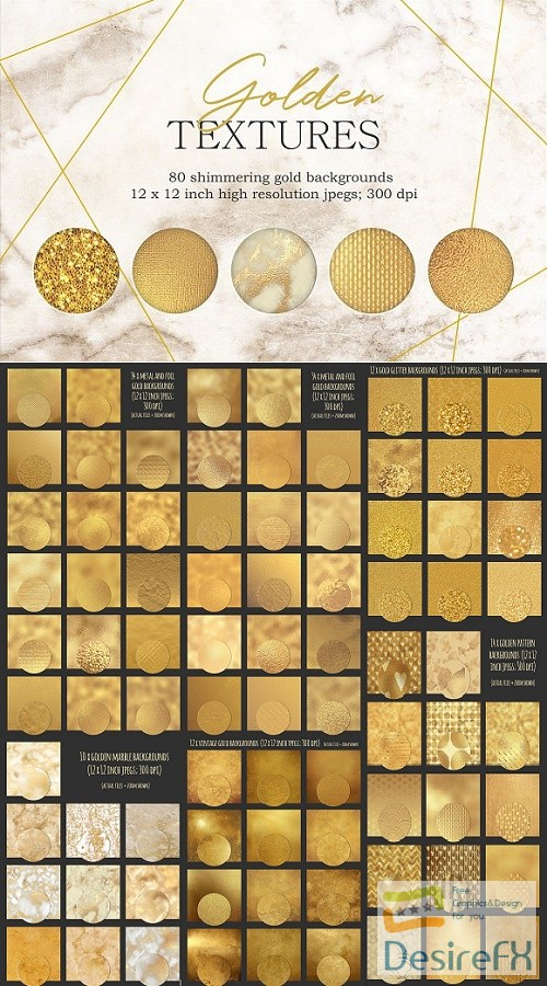 stock-images - Gold textures bundle - 2606007