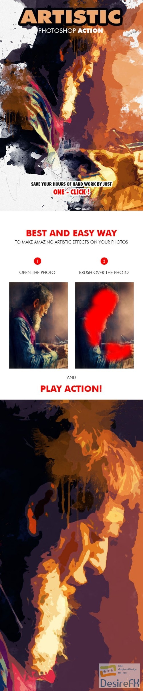 actions-atn - Artistic Photoshop Action 19663049