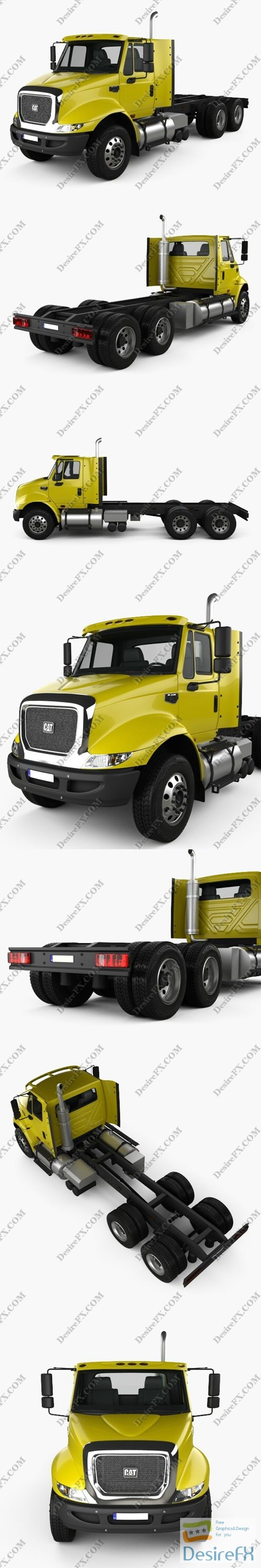 3d-models - Caterpillar CT610 Chassis Truck 2011 3D Model