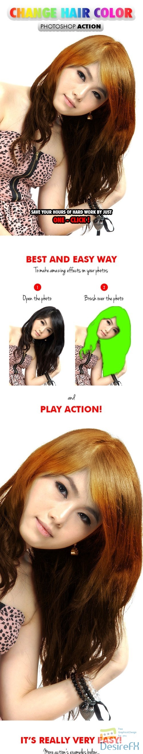 actions-atn - Change Hair Color - Photoshop Action 17682735
