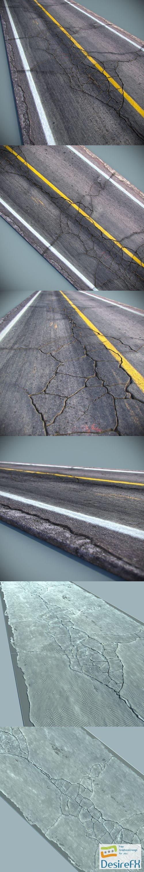 3d-models - Detailed Roads Collection 3D Model
