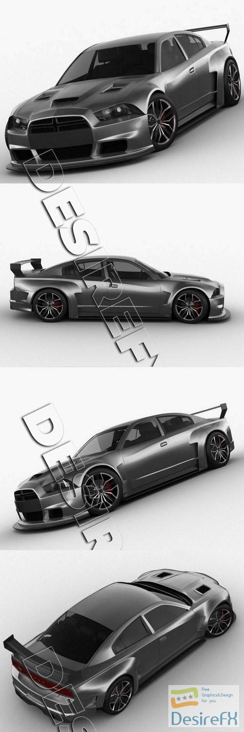 3d-models - Dodge Charger 2012 Restyling 3D Model