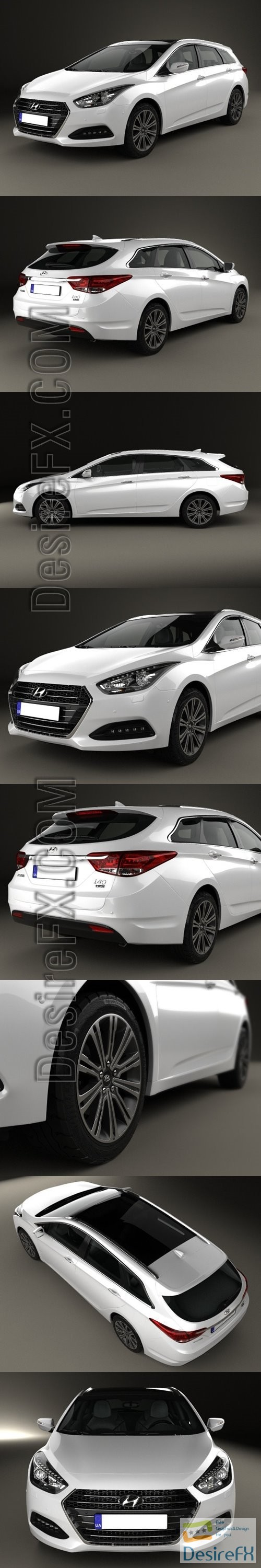 3d-models - Hyundai i40 wagon 2015 3D Model