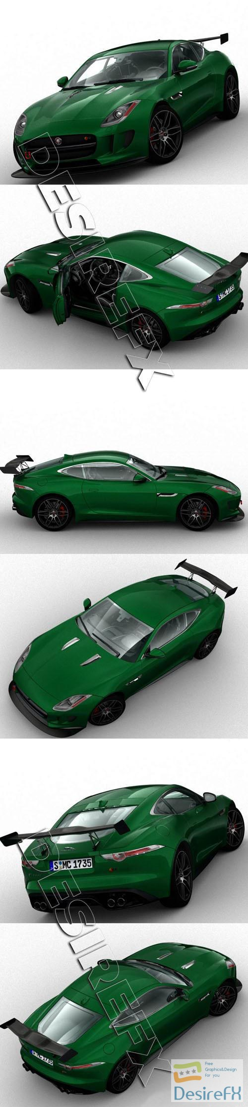 3d-models - Jaguar F-Type Fast 8 3D Model