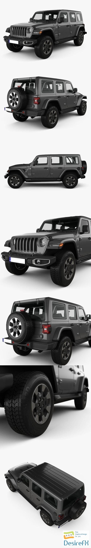 3d-models - Jeep Wrangler Unlimited Sahara 2018 3D Model