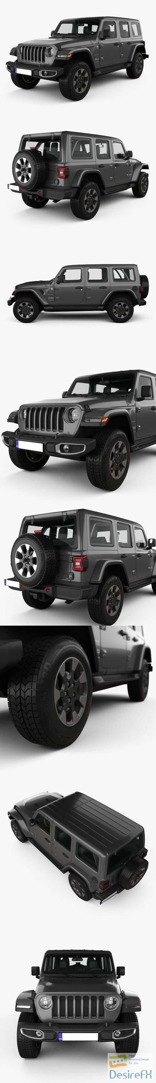 3d-models - Jeep Wrangler Unlimited Sahara 2018 3D Model