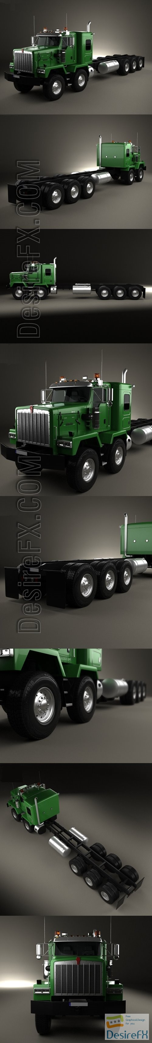 3d-models - Kenworth C500 Chassis Truck 5axle 2001 3D Model