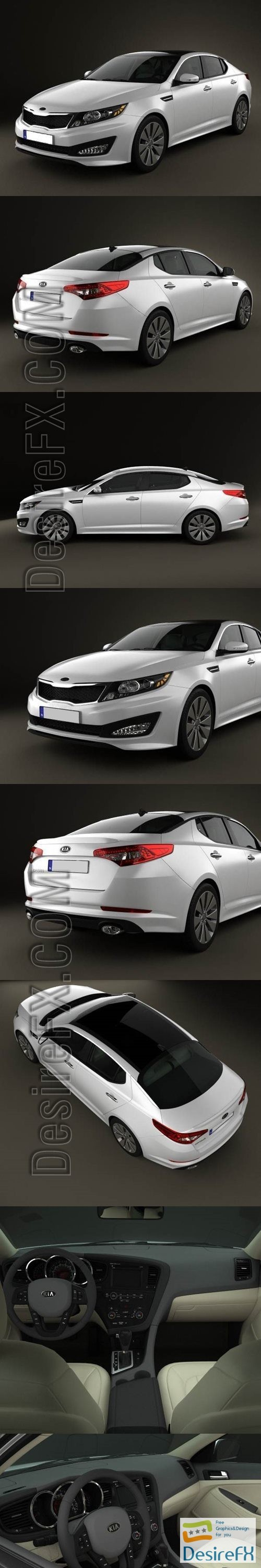 3d-models - Kia Optima with HQ Interior 2011 3D Model