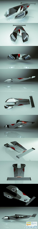 3d-models - Cheap & Cool T-Hover Car 05 Scorpion 3D Model