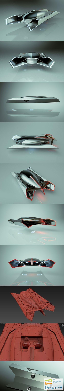 3d-models - Cheap & Cool T-Hover Car 06 Spider 3D Model