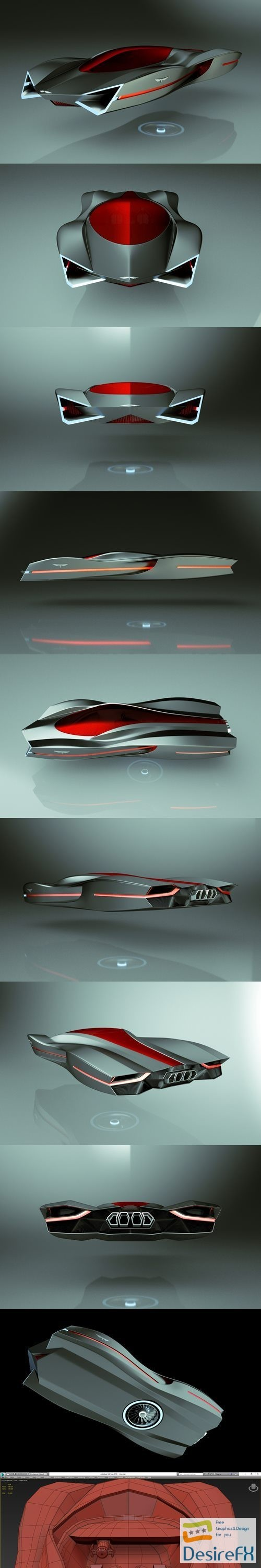 3d-models - Cheap & Cool T-Hover Car 04 3D Model
