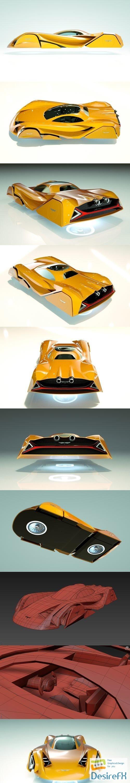 3d-models - Cheap & Cool T-Hover Car 07 3D Model