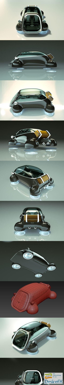 3d-models - Cheap & Cool T-Hover Car 08 3D Model