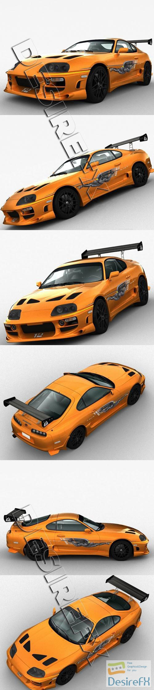 3d-models - Toyota Supra 1994 3D Model