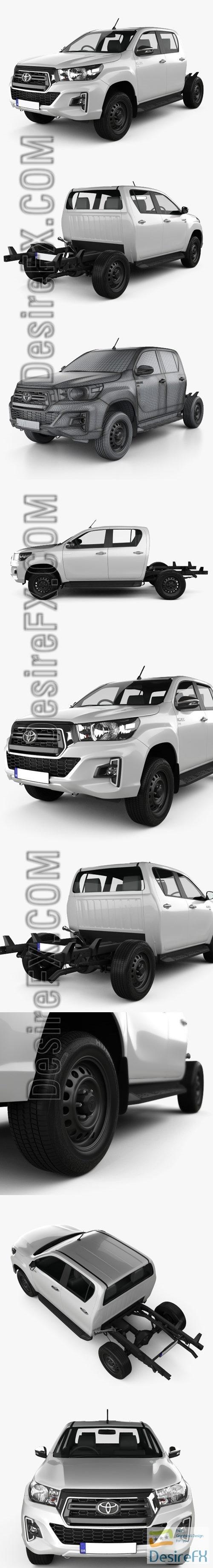3d-models - Toyota Hilux Double Cab Chassis SR 2019 3D Model
