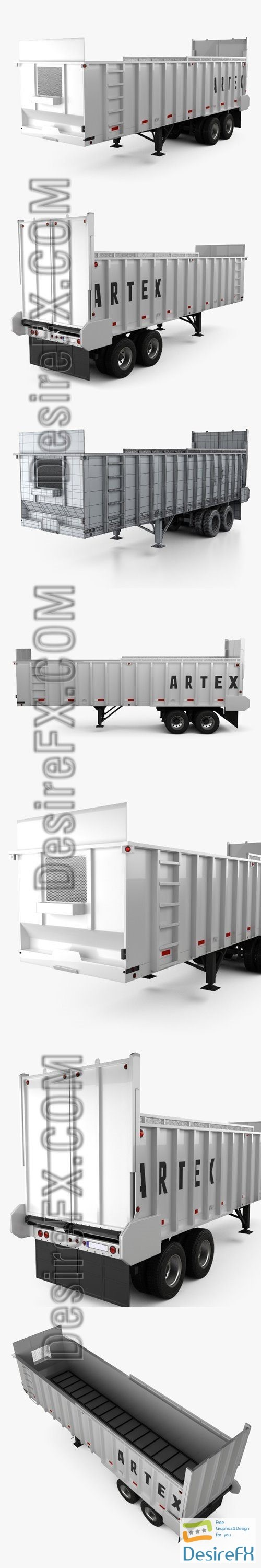 3d-models - Artex TR3606-8 Silage Semi Trailer 2018 3D Model