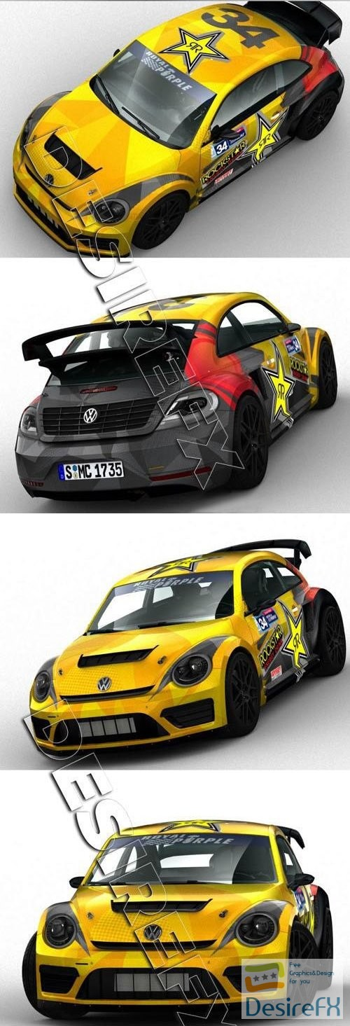 3d-models - VW Beetle GRC Race Car 3D Model