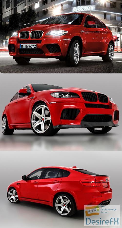 BMW X6 M 2010 3D Model