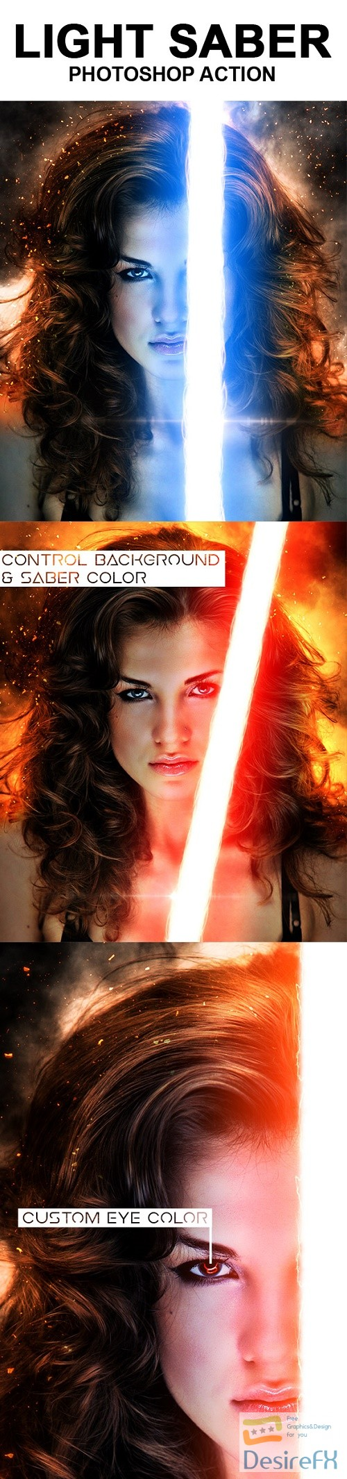 actions-atn - Light Saber Photoshop Action 18542969