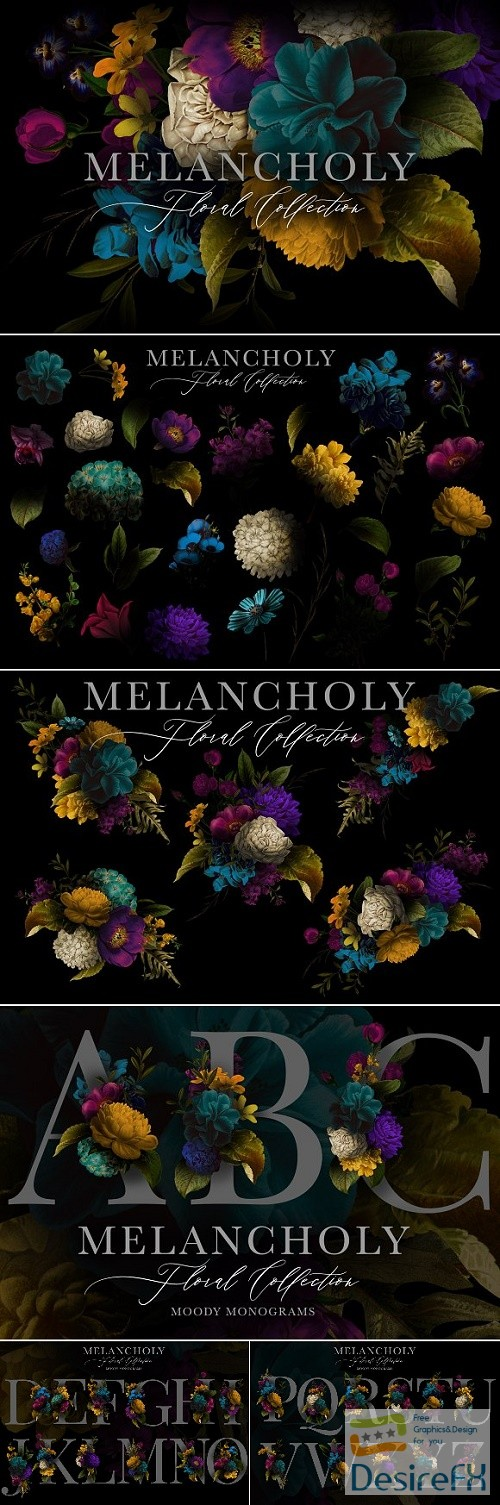stock-images - Melancholy Floral Collection - 2906566