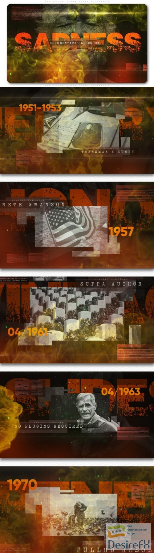 after-effects-projects - Videohive Sad Documentary Story Slideshow 22024595