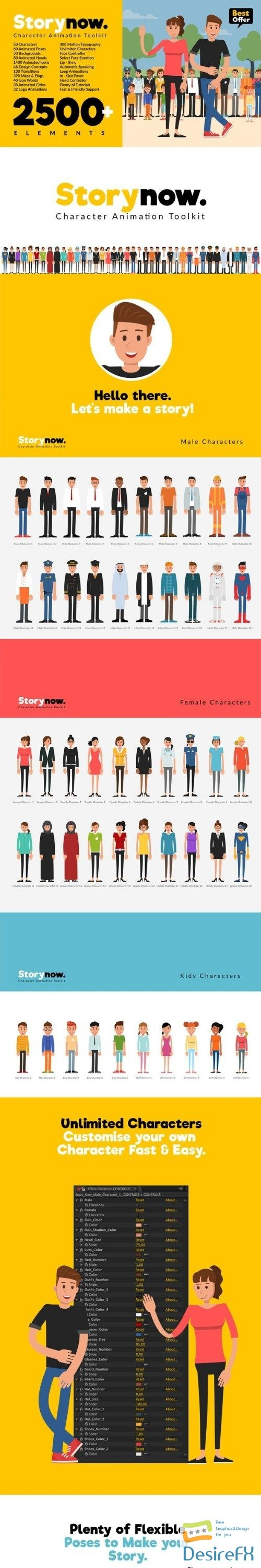 after-effects-projects - Videohive Story Now   Character Animation Explainer Toolkit 22706405