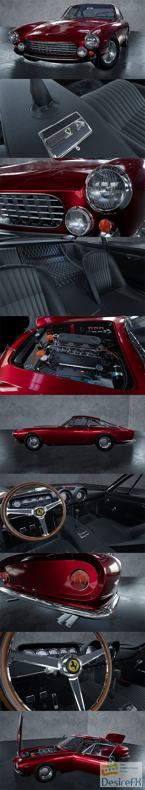 3d-models - Ferrari 250 GT Berlinetta Lusso 1962 3D Model