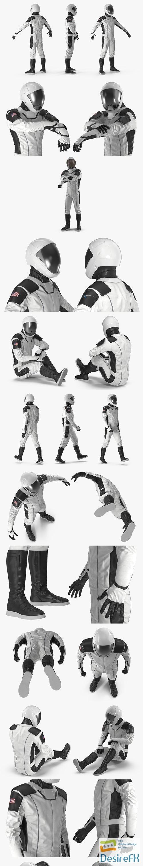 3d-models - Futuristic Space Suit Rigged 3D Model