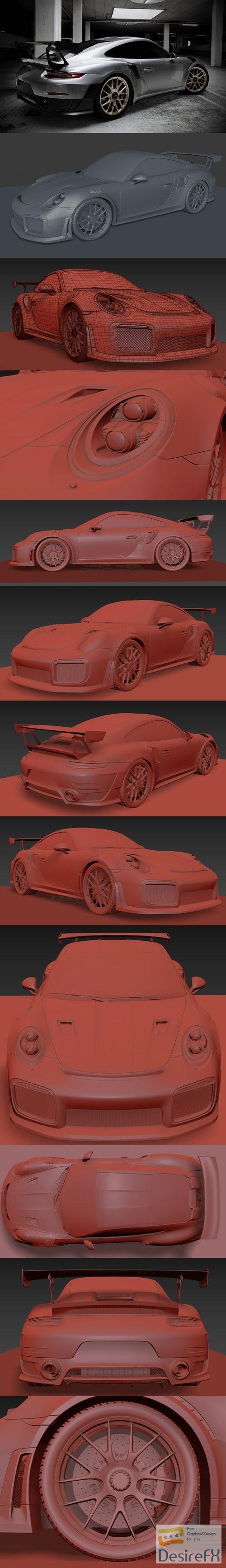 Porsche 911 GT2 RS 3D Model
