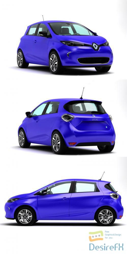 3d-models - Renault ZOE 3D Model